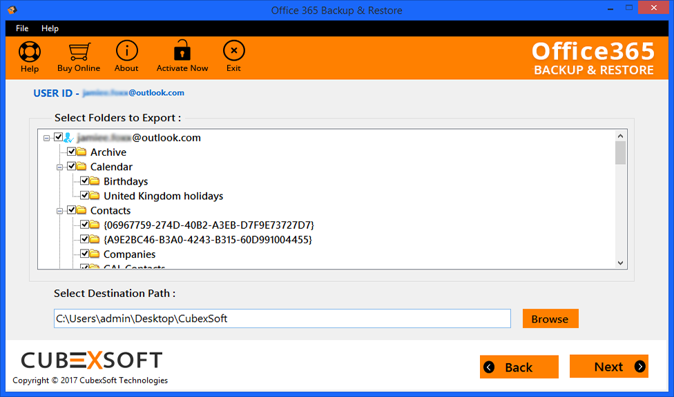 Mailsouls Office 365 to PST Export 1.0